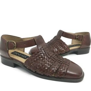 Ipanema brown weave 'beckie' shoes A0100